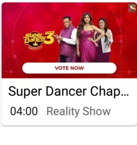 Super Dancer 3 Online Voting