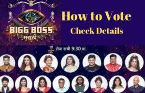 Bigg Boss Marathi Voting