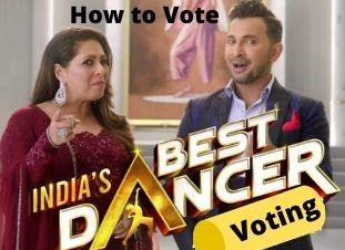 India's Best Dancer Voting